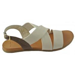 béžovo-hnědé kožené sandálky Bari Kira 90
