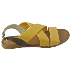 žluto-hnědé kožené sandálky Bari Kira 90