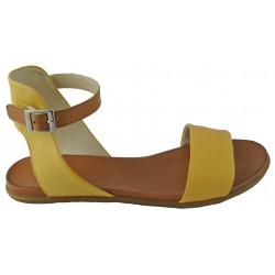 žluto-hnědé kožené sandálky Bari Kira 46