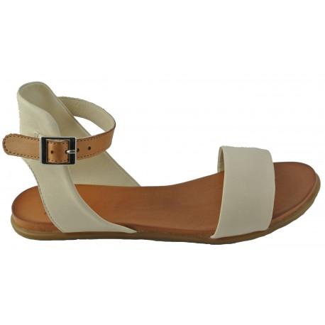 béžovo-hnědé kožené sandálky Bari Kira 46