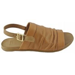 hnědé (couio) kožené sandálky Bari Kira 87