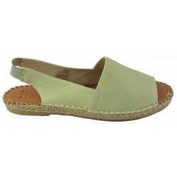mentolově zelené kožené espadrilky Bari Chloe 03