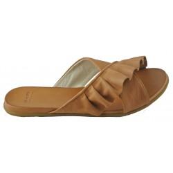 hnědé (couio) kožené pantofle Bari Kira 58