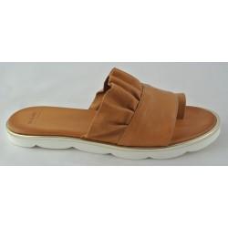 hnědé (couio) kožené trendy pantofle Bari Sevil 01