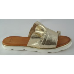zlaté kožené trendy pantofle Bari Sevil 01