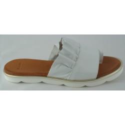 bílé kožené trendy pantofle Bari Sevil 01