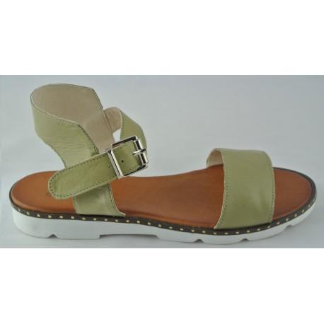 khaki kožené sandálky Bari Allyda 22