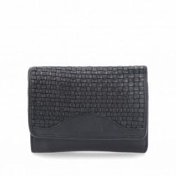 černá kožená proplétaná peněženka 5109 NB