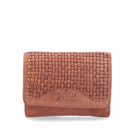 hnědá kožená proplétaná peněženka 5109 NB
