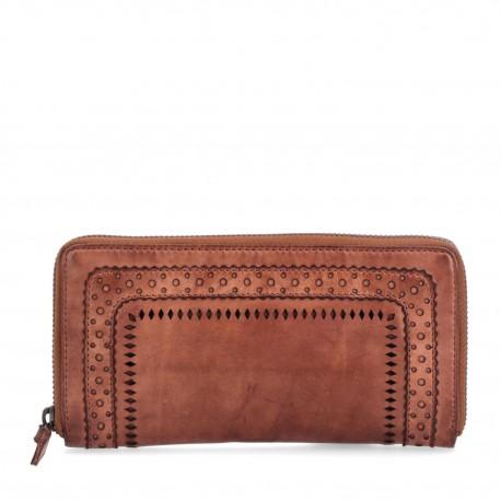 hnědá kožená peněženka 5112 NB