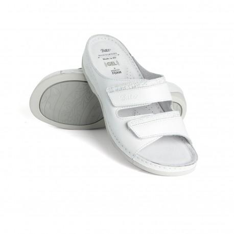 zdravotní bílé kožené pantofle BATZ Rea