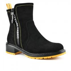 černo-žluté stylové polokozačky Tendenz MGW20-025