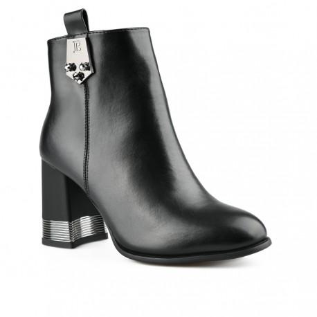 černá kotníková obuv na širokém podpatku Tendenz MGW20-038