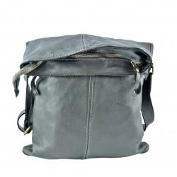 černá kožená italská luxusní crossbody kabelka La Via V040