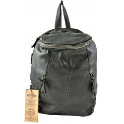 černý kožený italský luxusní batoh Bayside BS362
