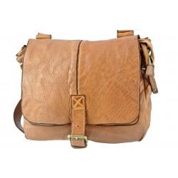 hnědá kožená italská luxusní crossbody taška Bayside BS583