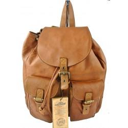 hnědý kožený italský luxusní batoh Bayside BS304
