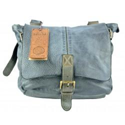 tmavě modrá kožená italská luxusní crossbody taška Bayside BS583 rock