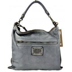 tmavě modrá kožená italská luxusní kabelka Bayside BS404