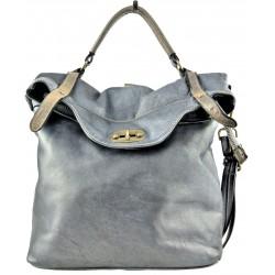 tmavě modrá kožená italská luxusní kabelka Bayside BS280mini