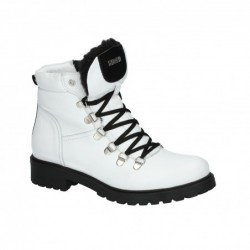 bílá kožená kotníková obuv Simen 2194A