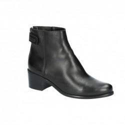 černá kožená kotníková obuv Simen 2160A