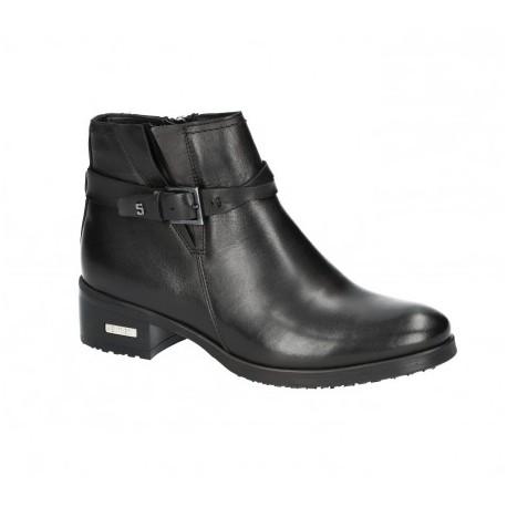 černá kožená kotníková obuv Simen 1730A