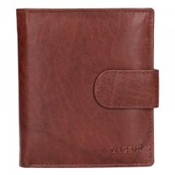 pánská hnědá kožená peněženka V-84