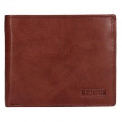 pánská hnědá kožená peněženka W-8154