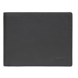 pánská černá kožená peněženka C-22