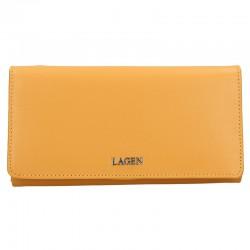 dámská žlutá kožená peněženka 50310