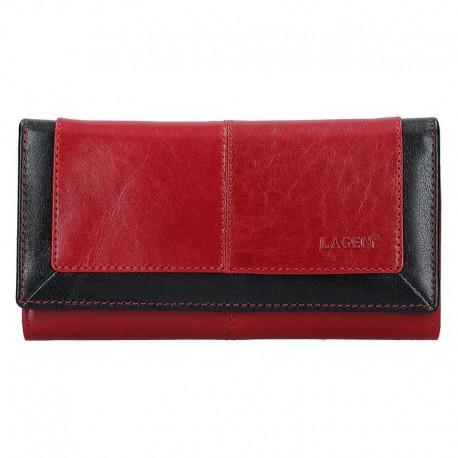 dámská červeno-černá kožená peněženka BLC/4228