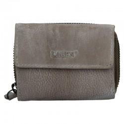 dámská šedá (taupe) kožená peněženka HB-10