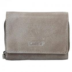 dámská šedá (taupe) kožená peněženka 4721
