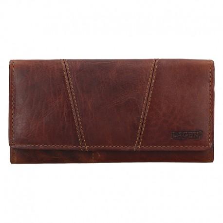 dámská hnědá kožená peněženka PWL-388/M