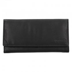 dámská černá kožená peněženka V-25/E