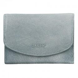 dámská kožená modrá (ocean blue) peněženka LG-2522