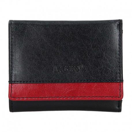 dámská černo-červená kožená peněženka BLC/160231
