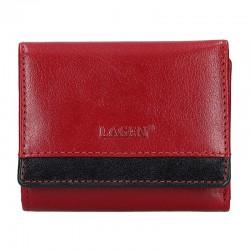dámská červeno-černá kožená peněženka BLC/160231