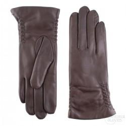 dámské tmavě hnědé kožené rukavice s vlněnou podšívkou Bohemia Gloves 3297