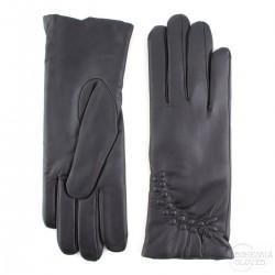 dámské černé kožené rukavice s vlněnou podšívkou Bohemia Gloves 4267