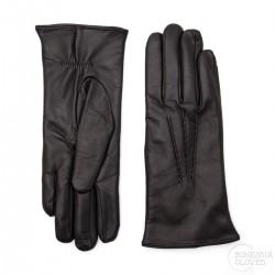 dámské černé kožené rukavice s vlněnou podšívkou Bohemia Gloves 6253