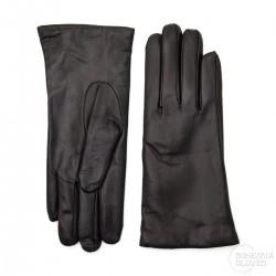 dámské černé kožené rukavice s vlněnou podšívkou Bohemia Gloves 9656