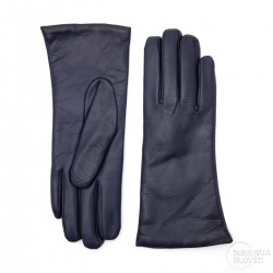 dámské tmavě modré kožené rukavice s vlněnou podšívkou Bohemia Gloves 9656