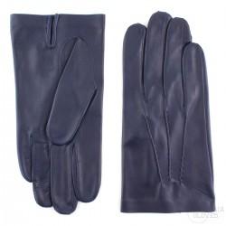 pánské tmavě modré kožené rukavice s vlněnou podšívkou Bohemia Gloves 0327