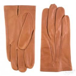 pánské koňakové kožené rukavice s vlněnou podšívkou Bohemia Gloves 0327