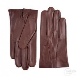pánské tmavě hnědé kožené rukavice s vlněnou podšívkou Bohemia Gloves 0327