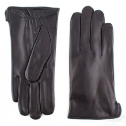 pánské černé kožené rukavice s vlněnou podšívkou Bohemia Gloves 3220