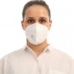 5 ks (20 Kč/kus) certifikovaný evropský bílý respirátor FFP2 NR originál