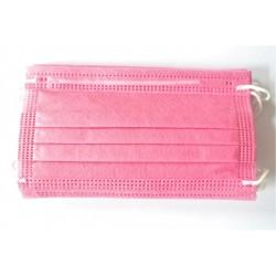 10 ks (8 Kč/kus)- růžové medicínské jednorázové certifikované roušky typu IIR, vyrobeno v EU